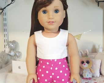 18 inch doll polka dot shorts