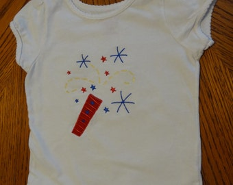Gently Used 4th of July  T-Shirt  Size 3T