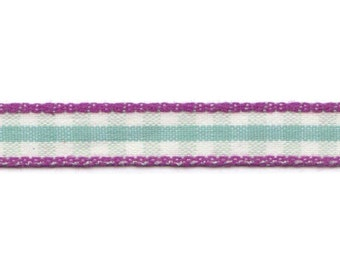 Design check turquoise - checkered white & turquoise