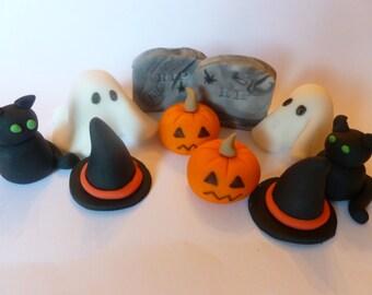 3D Halloween Fondant Toppers
