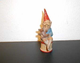 1984  TEDDY Vintage 6 inch no 26   Tom Clark gnome etched signed