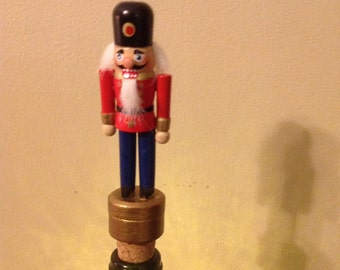 Christmas Toy Soldier wine stopper