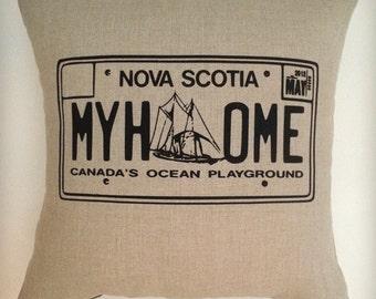 Nova Scotia License Plate Pillow cover, Cushion cover