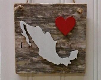 Mexico Hanger, Mexico ornament, Mexico sign, Mexico decor,  Mexico Love
