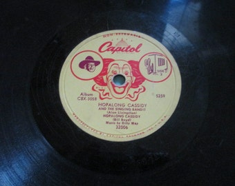 Hopalong Cassidy 78 Record