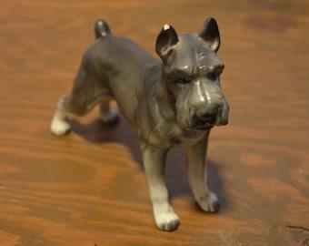 Lefton Schnauzer, Dog Figurine, Vintage Schnauzer, H7328