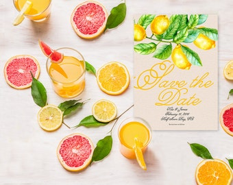 Save The Date Cards / Lemon Save the Dates
