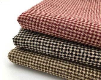 140cm / 55 inch Width, Dyed Large Check / Checker / Gingham Jacquard Cotton Fabric, Half Yard
