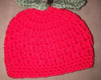 Baby Girl Baby Boy Crochet Apple Hat First Thanksgiving Photo Prop Baby Shower Gift Great for Halloween