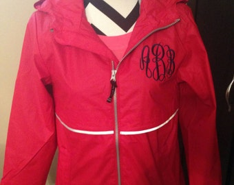 Monogrammed Rain Coat, Rain Jacket, Rain Coat, Charles River,Ladies Rain Coat, Monogram