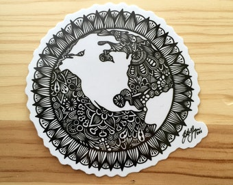Zentangle - World Sticker