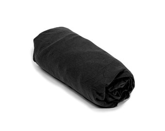 Black Fitted Sheet for Baby Crib / Cot & Toddler Transitional Bed, Cool Soft Cotton Fitted Sheet for Modern Nursery, Black Baby Bedding