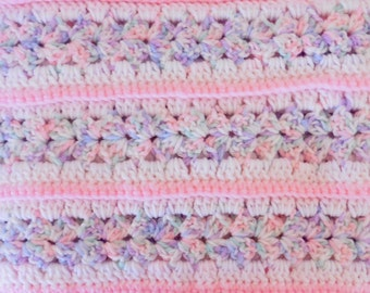 Pink Baby Mile A Minute Crochet Afghan