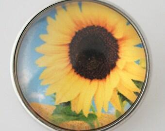 KB4319 Art Glass Print Chunk - Large Sunflower