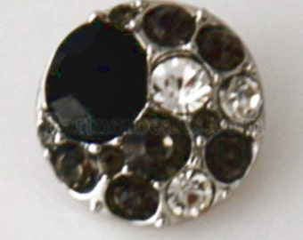 KB7585  Large Black Crystal Surrounded by Gray and Clear Crystals