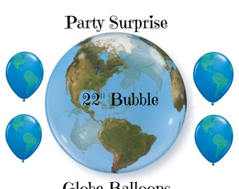 "Globe Balloons World Geography Classroom Around the World Bon Voyage Trip Travel Farewell Party Globe Balloons 11"""