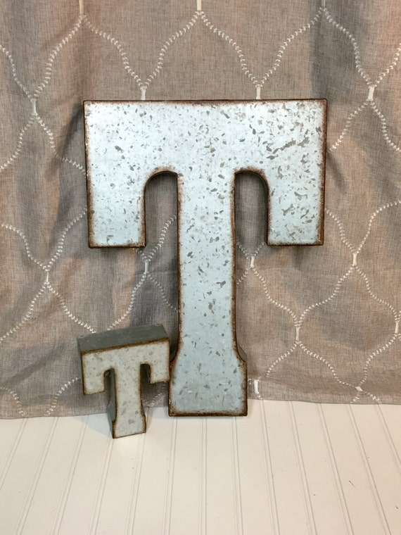Large metal letter galvanized letter industrial wedding for Giant galvanized letters