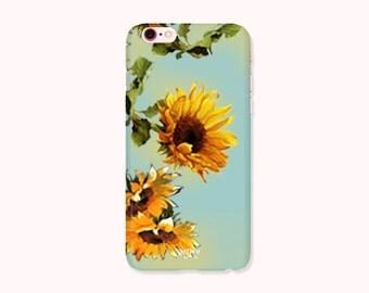 Floral iPhone 7 Case, iPhone 7 Plus Case, iPhone 6/6S Case, iPhone 6/6S Plus, iPhone 5/5S/SE Case, iPhone 5C Case - Blurred Sunflowers
