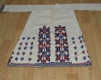 "EMBROIDERED nomads clothing      width with arm = 56"" (140 cm)  height = 44"" (110 cm)"