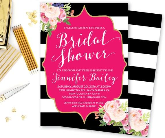 bridal shower invitation baby shower invitation bridesmaid brunch