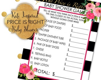Kate Inspired DIY Printable - Price Is Right Baby Shower Game - Instant Download - Digital File