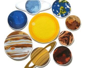 Felt Board Planets, felt outer space, homeschool, preschool, teacher resource, felt board story, flannel board story, travel activity, Earth