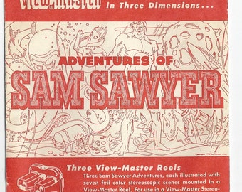 Sam Sawyer- Flies to the Moon, Finds Treasure and Land of the Giants View-Master Reels