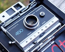 Polaroid Camera // 450 Land Camera // Zeiss Ikon Viewfinder // Film Tested & Working // Rewired for AAA Batteries