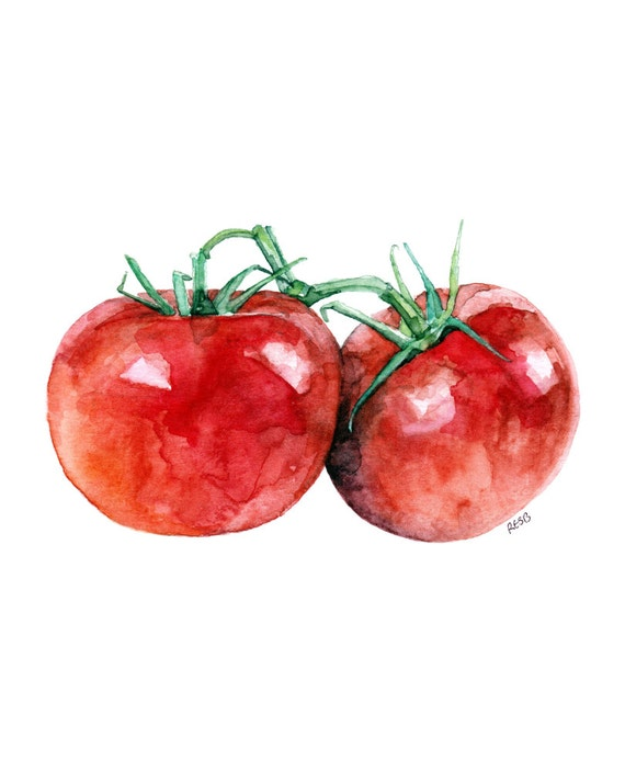 Tomato Painting Print ...