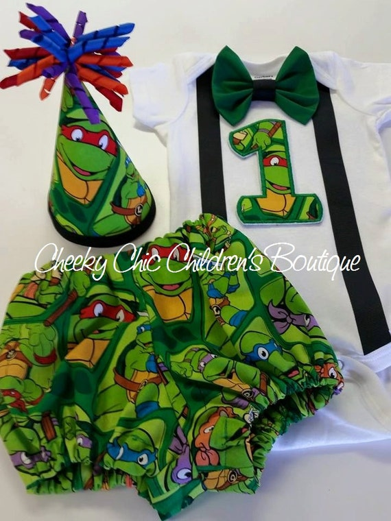 POPULAR TURTLES Inspired 1st Birthday Cake Smash Photo Prop Set