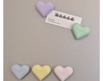 Heart Concrete Magnets - set of 5