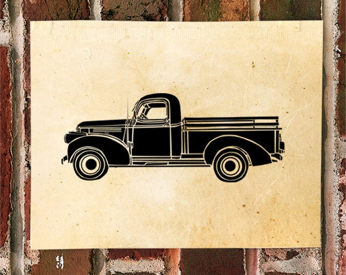 KillerBeeMoto: Limited Print Vintage American Pick-Up Truck 1 of 50 Automotive Print