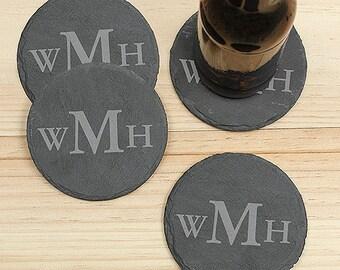 Monogrammed Coasters, Drink Coasters