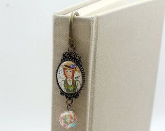 Free shipping,Anne Of Green Gables, gift for book lovers, metal bookmark, gift,fairy tale bookmark