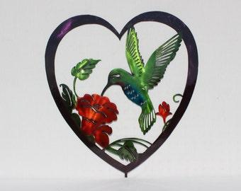 Hummingbird Heart on stick