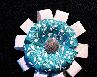 Blue ivy hair bow