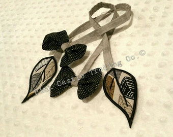 PRE ORDER -  Foliage Double Leaf & Bow Reach Straps (ships in 2-3 weeks)