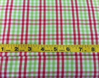 "Red and Green Check Fabric 60"" width"