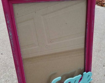 Cute pink and blue picture frame