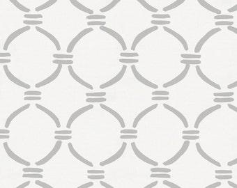 Silver Gray Lattice Circles Organic Fabric - By The Yard - Girl / Boy / Gender Neutral