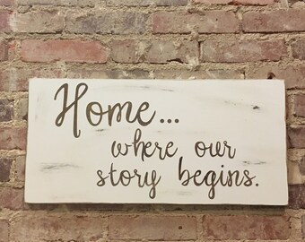 Where Our Story Begins Sign