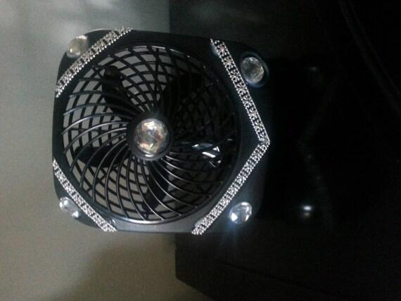 Battery Operated Desk Fan : Battery operated black desk fan by funkitupchicago on etsy