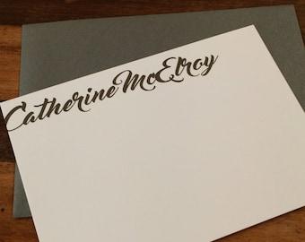 SET of 10: Personalized stationery, brushstroke stationery, artist stationery, custom notecard