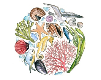 Sea Microcosm Giclee Print