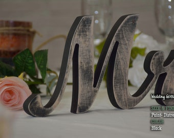 Wedding Gift, Mr and Mrs Wedding Signs, Mr & Mrs Wood Wedding Decoration, Navy Blue Wedding Decor