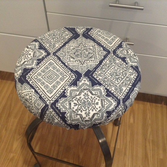 Elasticized Round Barstool Cover Kitchen Counterstool Seat
