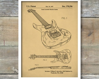 Ibanez Pro 540RBB Electric Guitar, Patent Prints, Patent Poster, Guitar Wall Art, Musician Gift, Music Room Wall Art, Guitar Gifts, P247