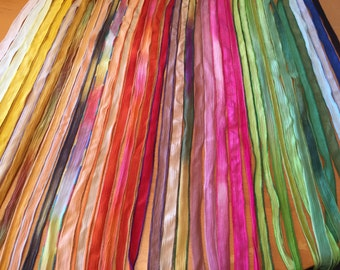 One Hand Dyed Silk Ribbon