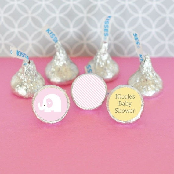 Baby Shower Favors Hershey Kisses ~ Hershey kiss labels baby shower favors stickers for candy
