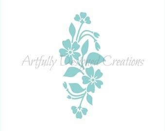 Flower Plaque Stencil